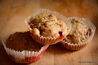 Tre muffins i papir