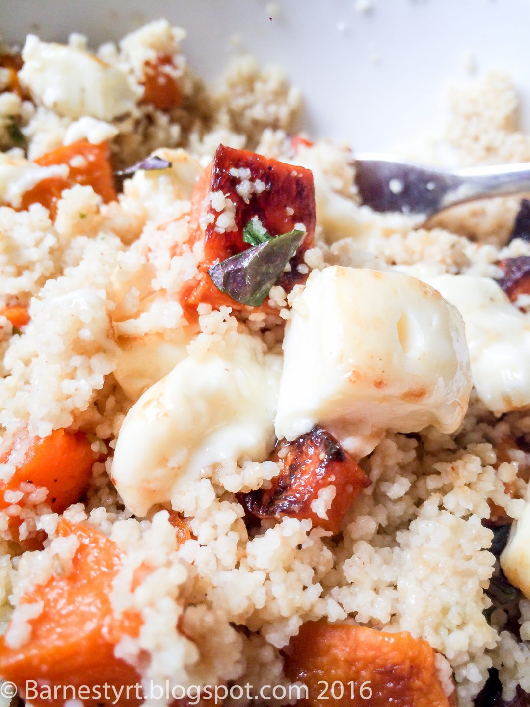 Couscous salad with halloumi and sweet potatoes
