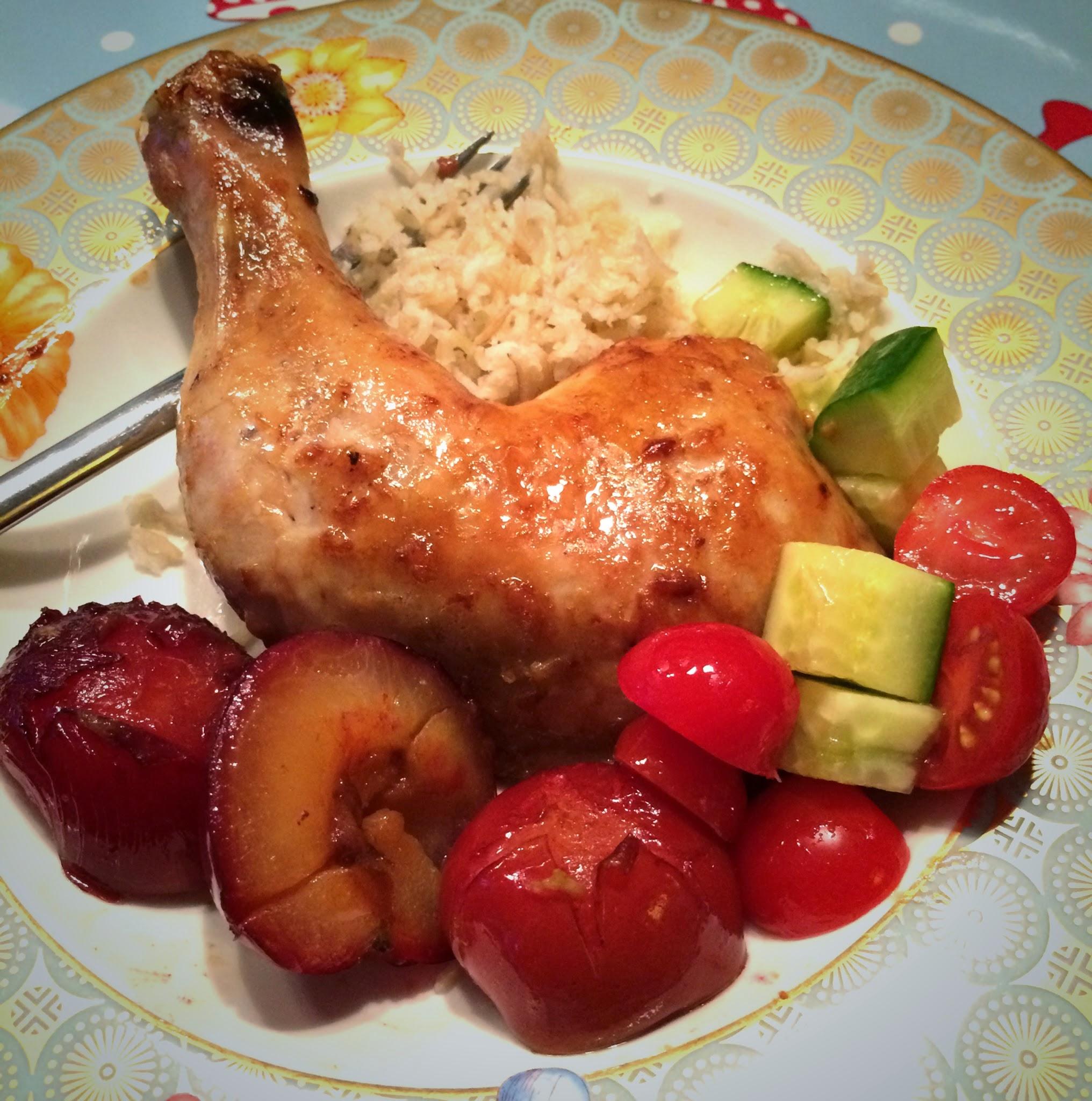 Kylling med plommer