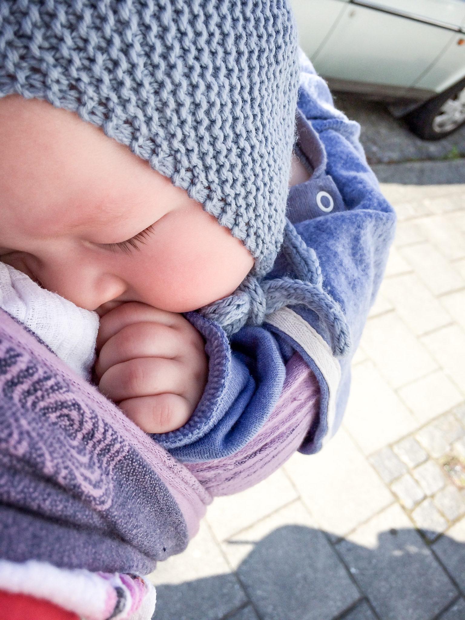 Baby sleeping in wrap